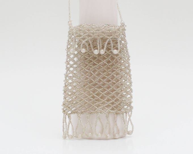 Vintage 1920s Glass Beaded Flapper Purse