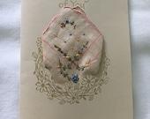 Thanksgiving Card, Thanksgiving Handkerchief Card, Handmade Greeting Card, Embossed Greeting Card
