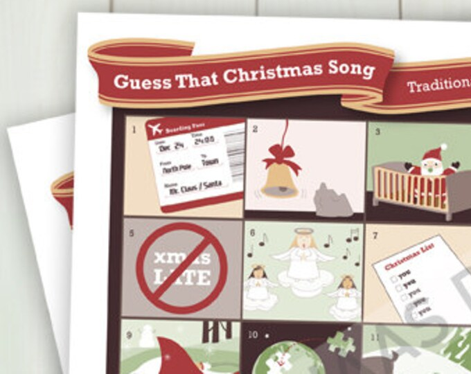 Guess That Christmas Song (Printable Holiday Game)
