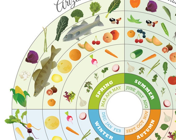 Arizona Food Seasonal Guide Print