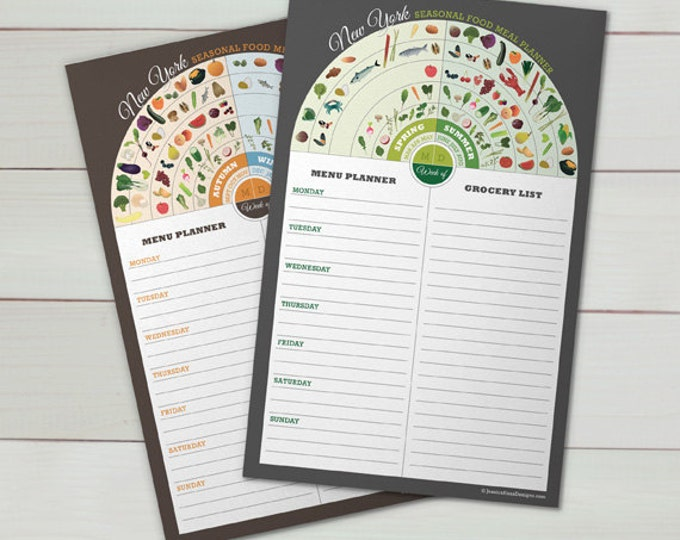 SALE - New York Menu & Grocery Planner Set