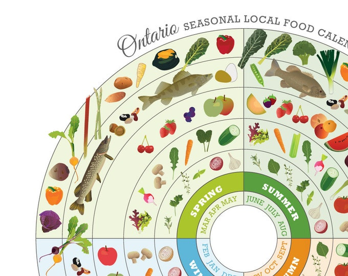 ONTARIO Seasonal Food Calendar Art Print