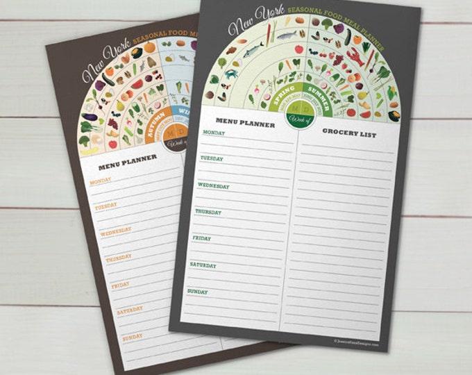 SALE - New York Menu & Grocery Planner Set