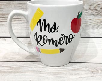 Custom Teachers Gift // Coffee Mug // Personalized teachers mug // Gift for teacher // Custom Coffee mug gift