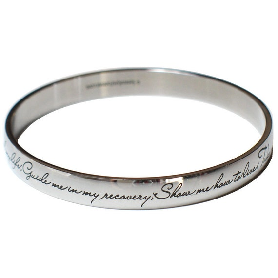 WSNANG Narcotics Anonymous Bracelet NA Sobriety Gift Serenity Prayer Bracelet Narcotics Anonymous Birthday Gift NA Bracelet New Beginnings Gift
