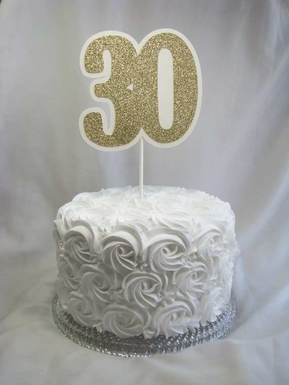 30th Birthday Cake Topper Party Decorative Picks Party Etsy