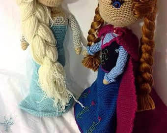 Ice and Flower Princess Doll Crochet PATTERNS PDF File Instructions