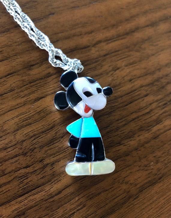 "RARE Vintage ""Zunitoon"" Mickey Mouse Pendant Neckl"