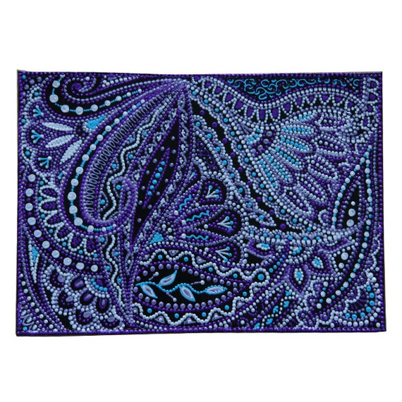 Personalized Blue Paisley Genuine Leather Passport Cover