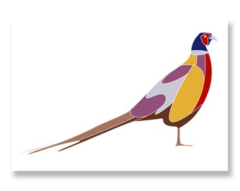 The Pheasant Print - Limited Edition Yorkshire Artwork Mounted Print by Lazenby Visuals