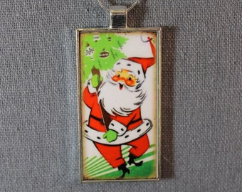 Holiday Pendant - Santa