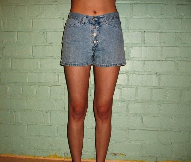 40e9887910 Vintage 80s 90s Shorts muy cortos jean de denim de Jordache