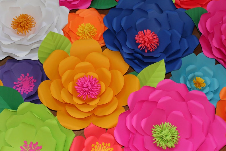 bc7dcbb1165 5 x6  mexican Fiesta Paper Flower Wall for party