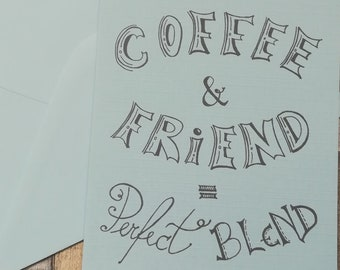 Friend Birthday Card For Cofee Lover Coffee And