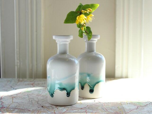 Apothecary Bottle Chemistry Gift For Doctor Ceramic Bottle Bud Etsy