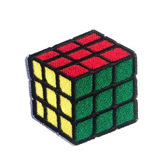 save off look for detailed pictures Taille du Cube Rubik - BIG - Iron-on Patch - jeu de Puzzle - broderie -  Appliqué - 2,36
