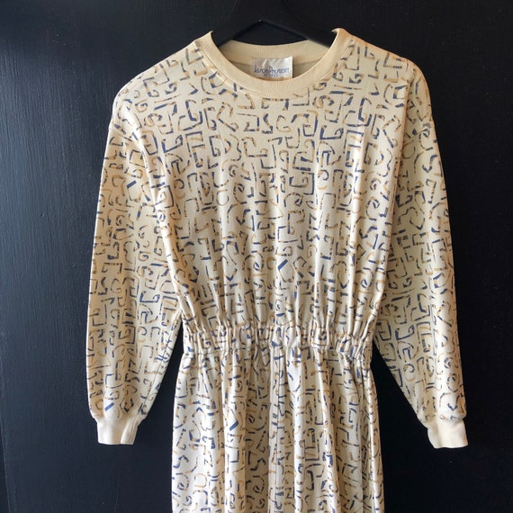 Vintage 80s Graphic Sweatshirt Petite Dress