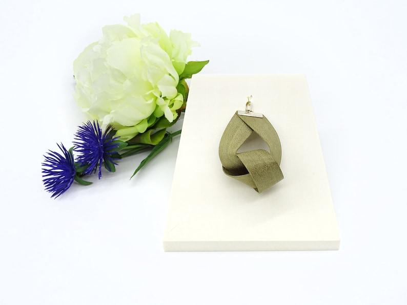 BÜKK Jewelry  Handmade natural wood sterling silver pendant image 0