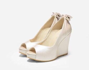 1ea4623b32a8 Wedding shoes wedge