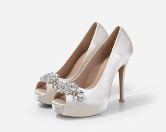 Neptune Crystal Embellished Wedding Shoes 7ae111cb1a17