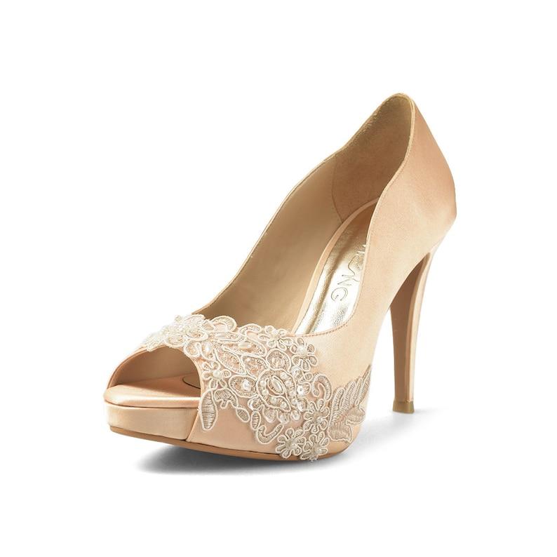 Miss Ace 2 Gold Wedding Heels Gold