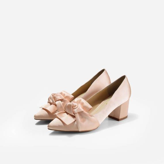 Belle Block Heels Custom Made Wedding Shoes Bespoke Bridal Etsy