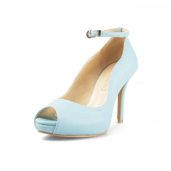 Pastel Blue Heels
