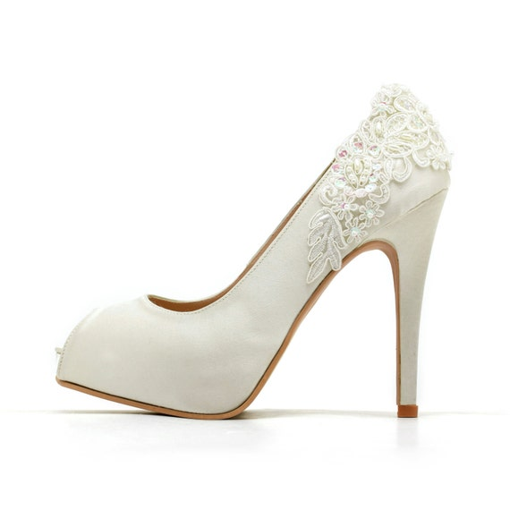 6d222b73b4b Ivory White Wedding ShoesIvory White Bridal HeelsIvory White
