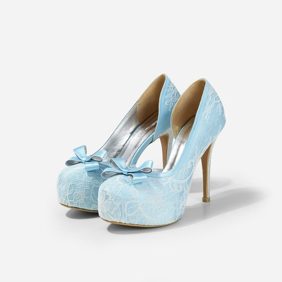 ca47b53b9922 Lady Bella Baby Blue Satin Lace Wedding Shoe Sky Blue Satin