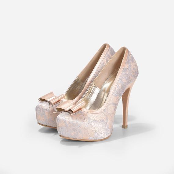 camilia desnuda boda zapatos zapatos de boda de encaje nude | etsy