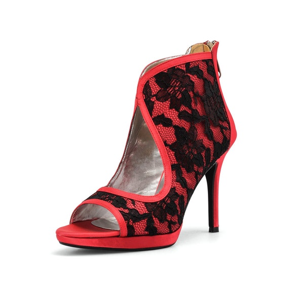 Custom Made Bridal Shoes Uk: Items Similar To Custom Made Shoes, Red Bootie Wedding