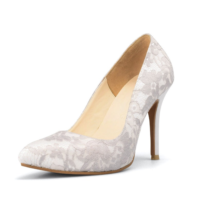 f67445d7c2fd3 Ivory White Lace Wedding Shoes, White Wedding Shoes, Custom Made Wedding  Shoes, Ivory Bridal Shoes, Vintage Wedding Shoes
