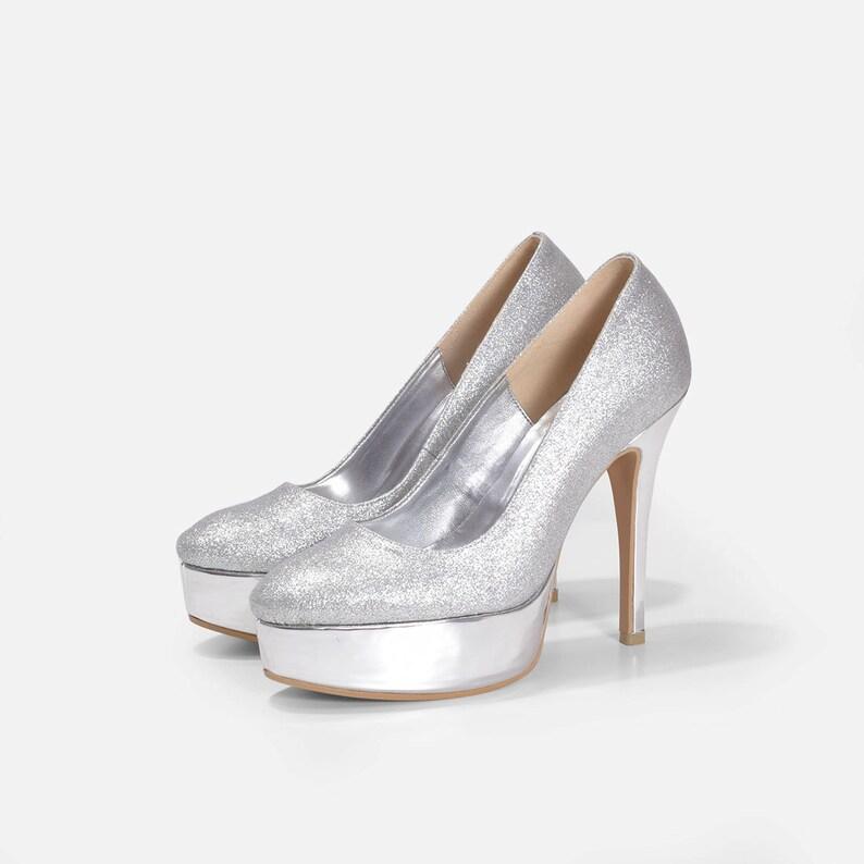 Silver Wedding Shoes.Moana Silver Wedding Shoes Silver Glitter Wedding Shoes Silver Bridal Shoes Silver Sparkling Wedding Shoes