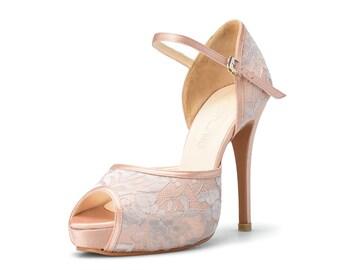 Peach wedding shoes | Etsy