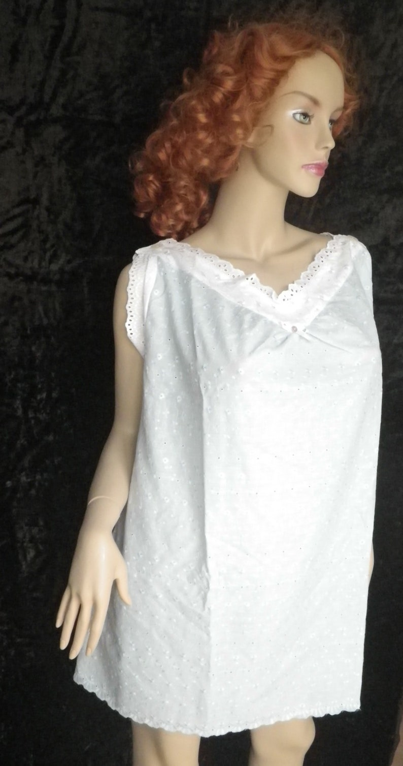 victorian chemise shirt Undershirt for a corset for bustle gown nightgown light blue Backfisch # 2 Size XL