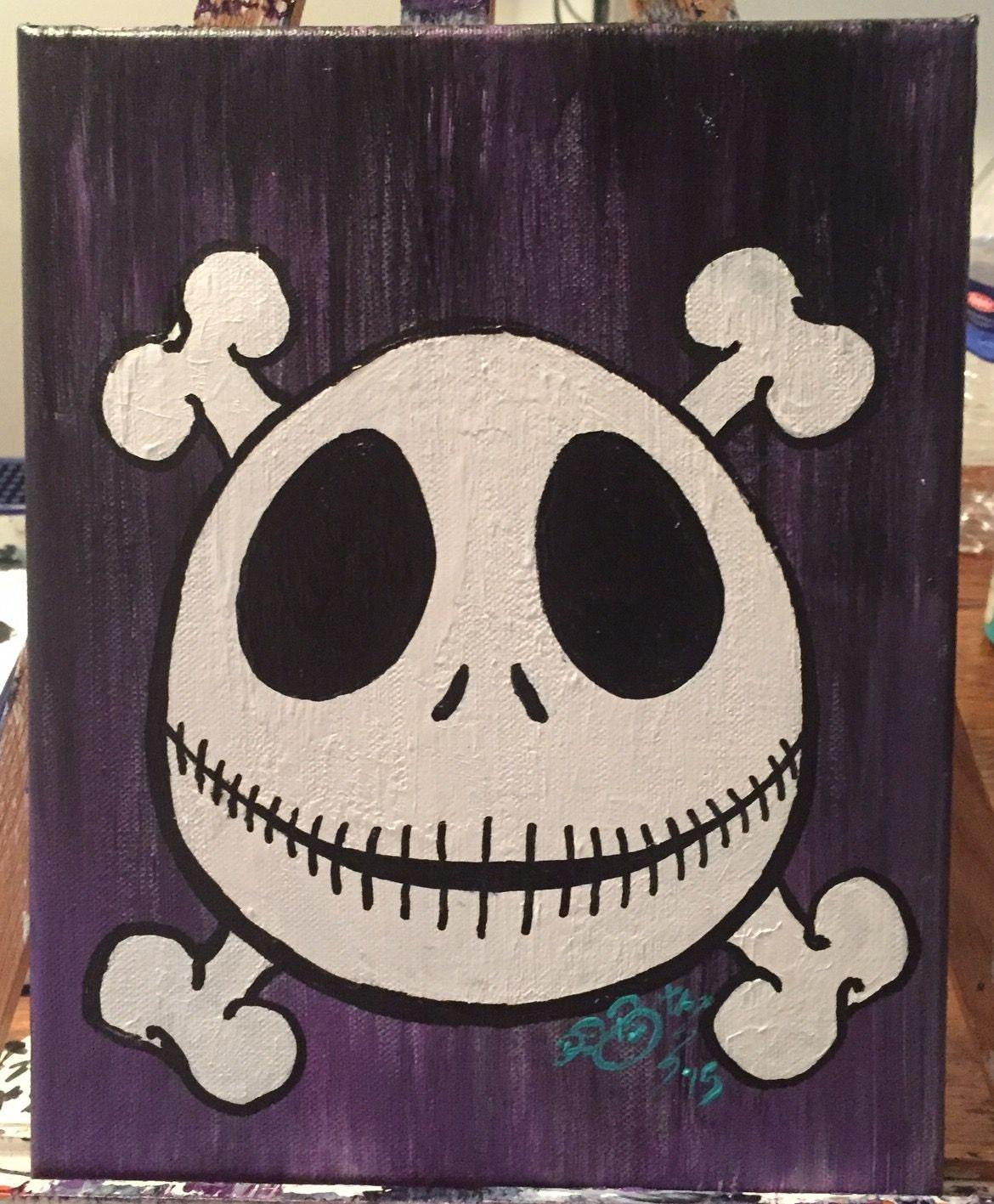 Nightmare Before Christmas Skull & Crossbones | Etsy