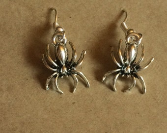 Spider Earrings - Halloween Earrings - gifts for her - gift for spider lover - small gift - gift for Arachnid lover - stocking filler