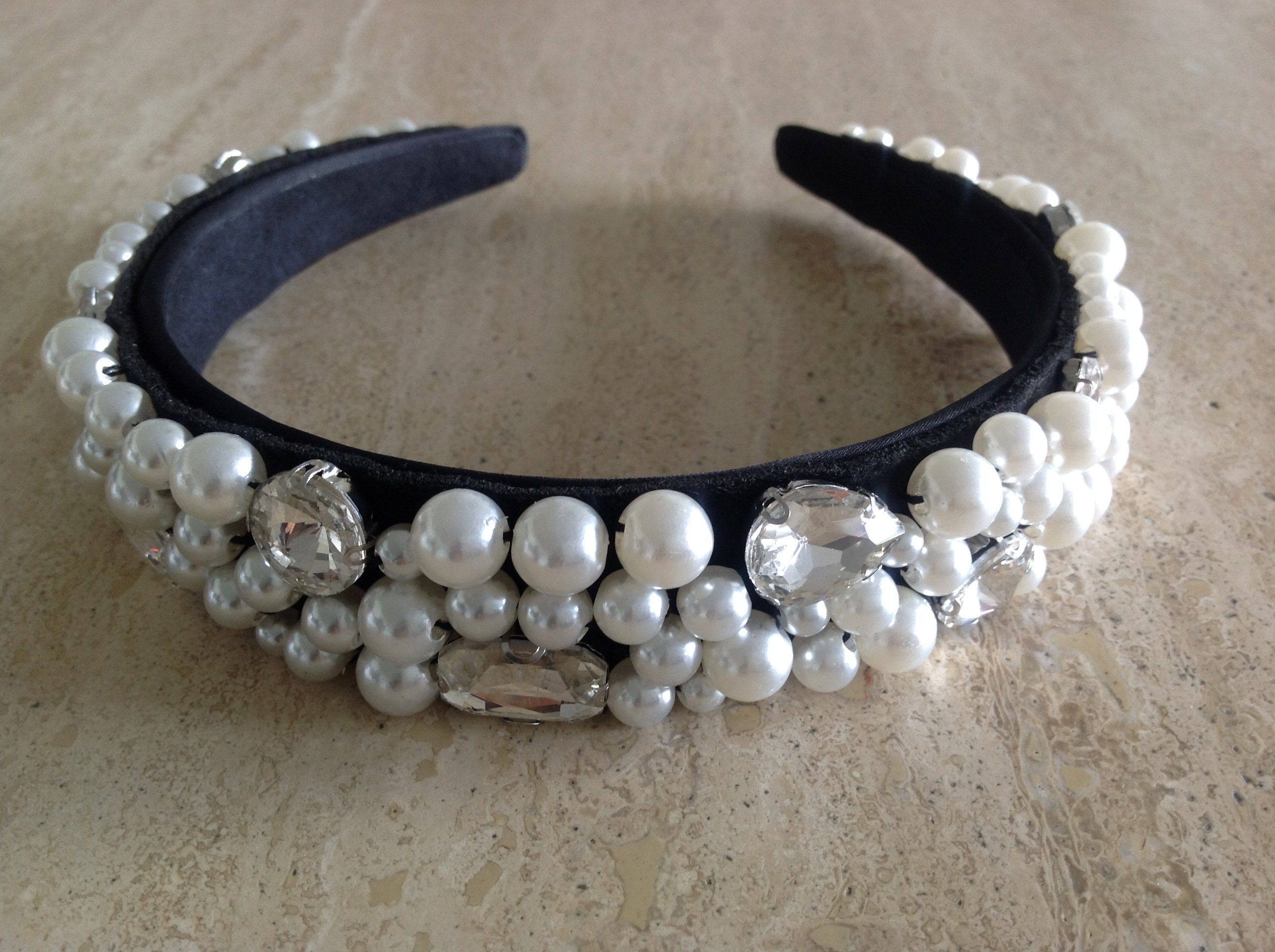 Aurora Faux Pearl Headband Baroque Headband Designer Inspired Etsy