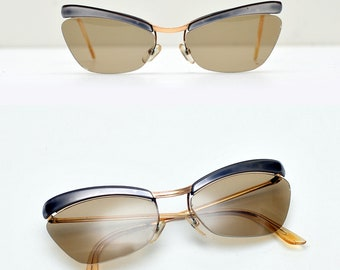 b5ff420487 original 1950s Amor sunglasses cat eye sunglasses rare gold plated