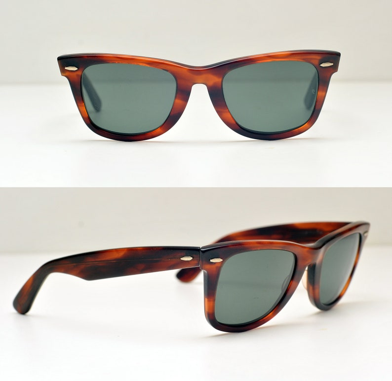 67531d5d44f3e USA Ray Ban B L Wayfarer 55 22 USA Sunglasses bausch and lomb