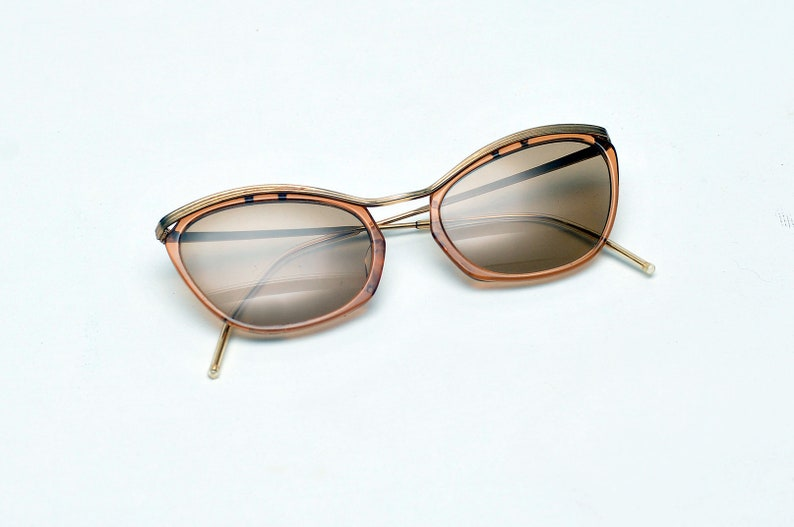 34c584127ed9a Original 1950s sunglasses cat eye sunglasses rare gold plated