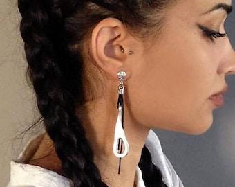 5a93b6537e59 Silver charm earrings