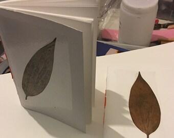 Pressed leaf journal #lily