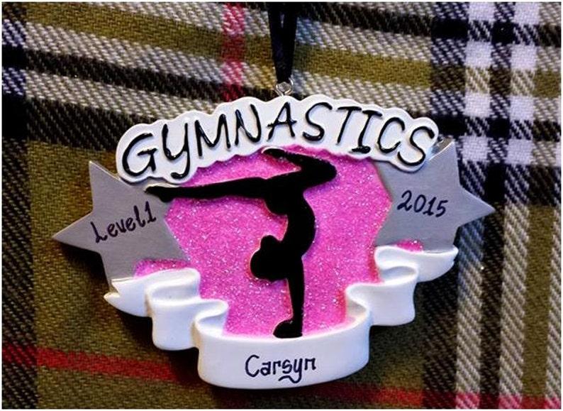 Gymnastics Gift Gymnast Ornament Personalized Christmas Ornament Gymnastics Team GiftsGymnast Birthday GiftGymnastics Coach