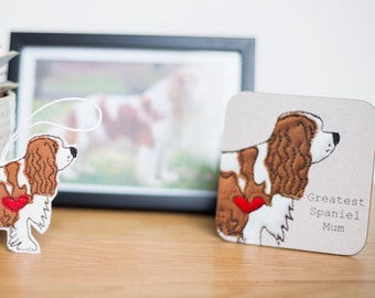 Bespoke Dog Parent Coaster and Decoration Gift Set