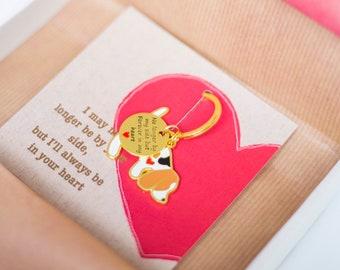 Pet Loss Memorial Keyring - Keepsake Present - in memory of beloved dog - Dog Bereavement Gift - Dog Remembrance Gift