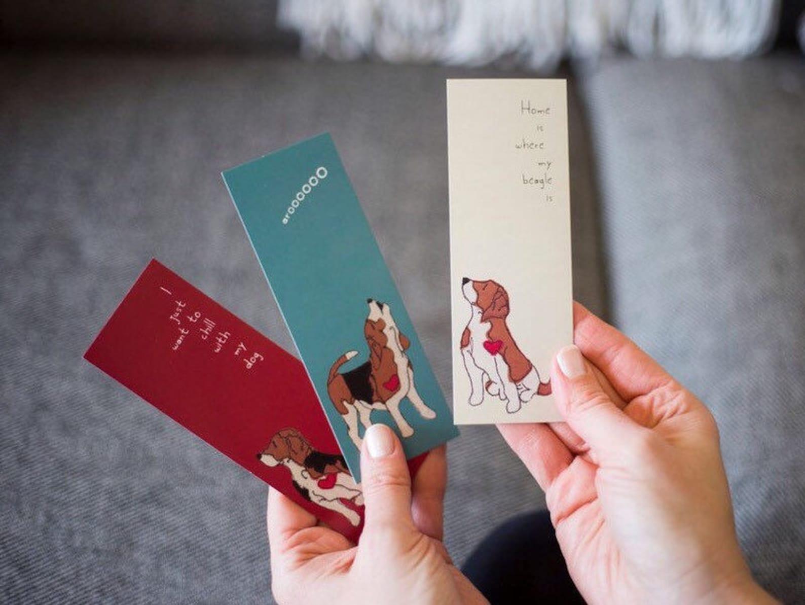 Beagle print bookmarks