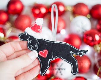 Working Cocker Spaniel Fabric Dog Christmas Decoration - Cocker Spaniel Ornament - Cake Topper