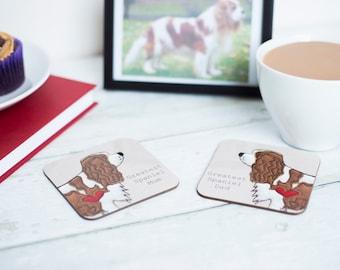 Bespoke Dog Parents Coasters and Decoration Gift Set