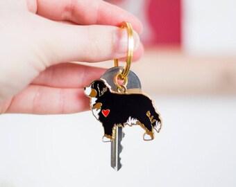 Bernese Mountain Dog Keyring - Dog Remembrance Keyring - Gift For Dog Mum - Gift For Dog Dad